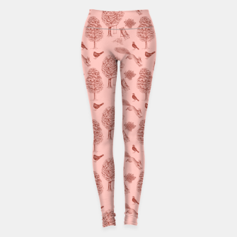 Miniatur A Girl Reading in the Garden (Pink and Maroon) Leggings, Live Heroes