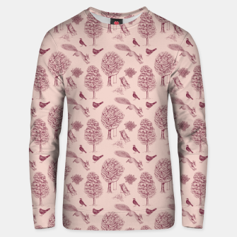 Thumbnail image of A Girl Reading in the Garden (Pink and Plum) Unisex sweater, Live Heroes