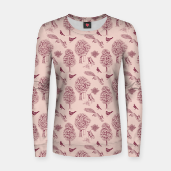Thumbnail image of A Girl Reading in the Garden (Pink and Plum) Women sweater, Live Heroes