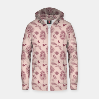 Thumbnail image of A Girl Reading in the Garden (Pink and Plum) Zip up hoodie, Live Heroes