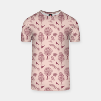 Thumbnail image of A Girl Reading in the Garden (Pink and Plum) T-shirt, Live Heroes
