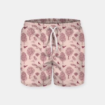 Thumbnail image of A Girl Reading in the Garden (Pink and Plum) Swim Shorts, Live Heroes