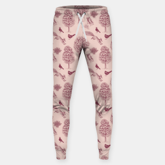 Thumbnail image of A Girl Reading in the Garden (Pink and Plum) Sweatpants, Live Heroes
