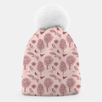 Thumbnail image of A Girl Reading in the Garden (Pink and Plum) Beanie, Live Heroes