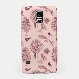 Thumbnail image of A Girl Reading in the Garden (Pink and Plum) Samsung Case, Live Heroes