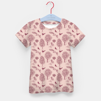 Thumbnail image of A Girl Reading in the Garden (Pink and Plum) Kid's t-shirt, Live Heroes