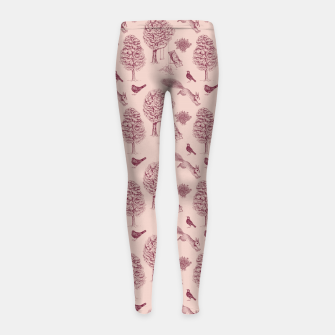 Thumbnail image of A Girl Reading in the Garden (Pink and Plum) Girl's leggings, Live Heroes