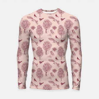 Thumbnail image of A Girl Reading in the Garden (Pink and Plum) Longsleeve rashguard , Live Heroes