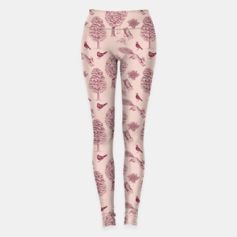 Thumbnail image of A Girl Reading in the Garden (Pink and Plum) Leggings, Live Heroes