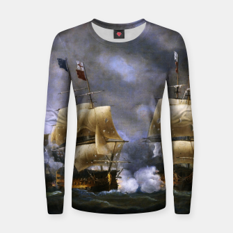Thumbnail image of Battle of Quiberon Bay Women sweater, Live Heroes