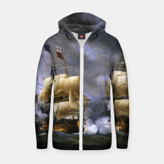 Thumbnail image of Battle of Quiberon Bay Zip up hoodie, Live Heroes
