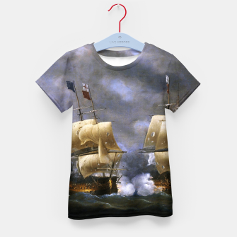 Thumbnail image of Battle of Quiberon Bay Kid's t-shirt, Live Heroes