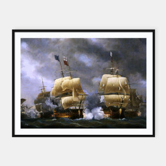 Thumbnail image of Battle of Quiberon Bay Framed poster, Live Heroes