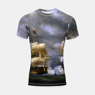 Thumbnail image of Battle of Quiberon Bay Shortsleeve rashguard, Live Heroes