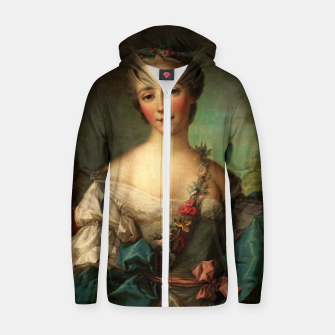 Thumbnail image of Portrait of a Young Woman by Jean-Marc Nattier Zip up hoodie, Live Heroes