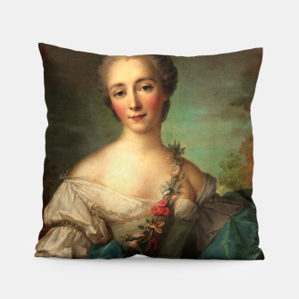 Thumbnail image of Portrait of a Young Woman by Jean-Marc Nattier Pillow, Live Heroes
