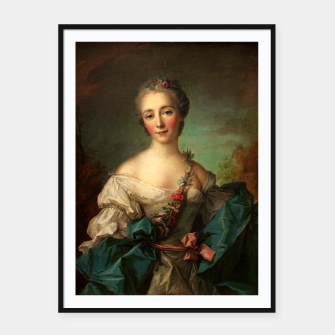 Thumbnail image of Portrait of a Young Woman by Jean-Marc Nattier Framed poster, Live Heroes