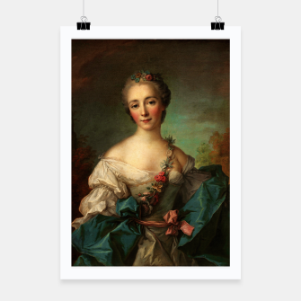 Thumbnail image of Portrait of a Young Woman by Jean-Marc Nattier Poster, Live Heroes