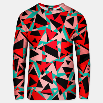 Pieces of colorful broken glass print  Unisex sweater miniature