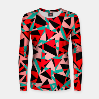 Thumbnail image of Pieces of colorful broken glass print  Women sweater, Live Heroes