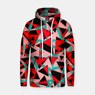 Pieces of colorful broken glass print  Hoodie miniature