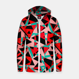 Pieces of colorful broken glass print  Zip up hoodie miniature