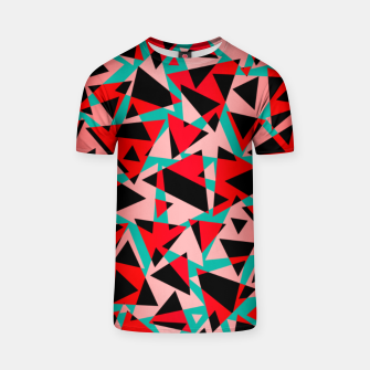 Pieces of colorful broken glass print  T-shirt miniature