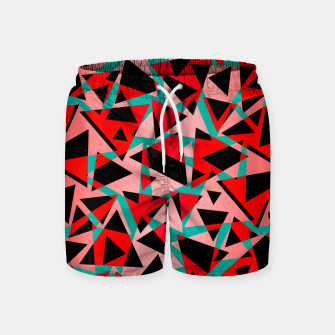 Pieces of colorful broken glass print  Swim Shorts miniature