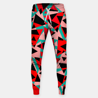 Pieces of colorful broken glass print  Sweatpants miniature