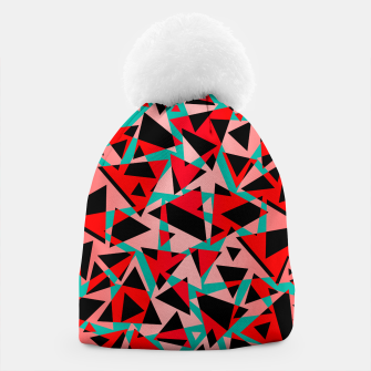 Pieces of colorful broken glass print  Beanie miniature