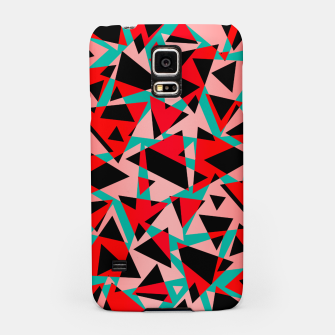 Pieces of colorful broken glass print  Samsung Case miniature