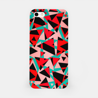 Pieces of colorful broken glass print  iPhone Case miniature