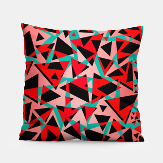 Thumbnail image of Pieces of colorful broken glass print  Pillow, Live Heroes