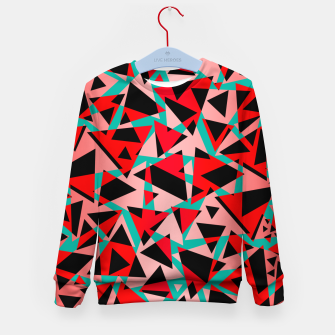 Thumbnail image of Pieces of colorful broken glass print  Kid's sweater, Live Heroes