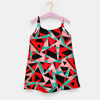 Pieces of colorful broken glass print  Girl's dress miniature