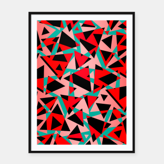 Thumbnail image of Pieces of colorful broken glass print  Framed poster, Live Heroes