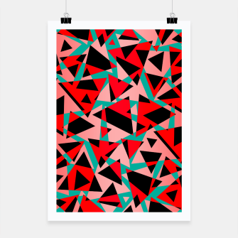 Thumbnail image of Pieces of colorful broken glass print  Poster, Live Heroes