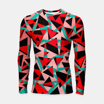 Pieces of colorful broken glass print  Longsleeve rashguard  miniature