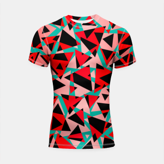 Thumbnail image of Pieces of colorful broken glass print  Shortsleeve rashguard, Live Heroes