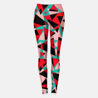 Pieces of colorful broken glass print  Leggings miniature