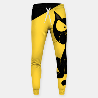 The angry cat print, animal cartoon design Sweatpants miniature