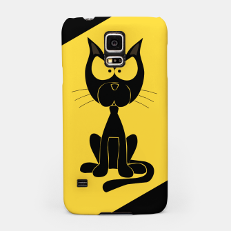 The angry cat print, animal cartoon design Samsung Case miniature