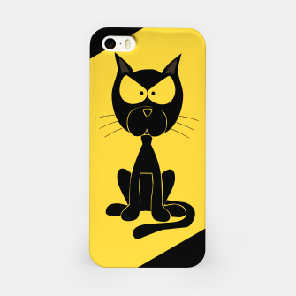 The angry cat print, animal cartoon design iPhone Case miniature