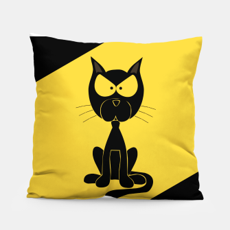 The angry cat print, animal cartoon design Pillow miniature