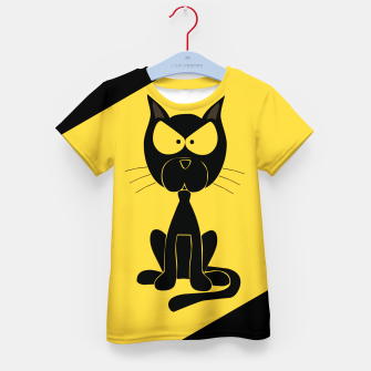 The angry cat print, animal cartoon design Kid's t-shirt miniature