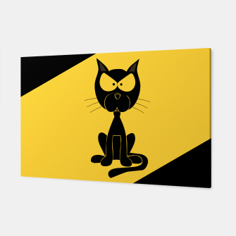 The angry cat print, animal cartoon design Canvas miniature