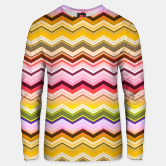 Zig zag waves print Unisex sweater miniature
