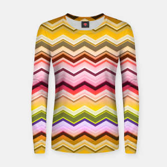 Zig zag waves print Women sweater miniature