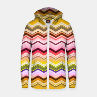 Zig zag waves print Zip up hoodie miniature