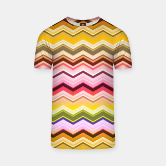 Zig zag waves print T-shirt miniature